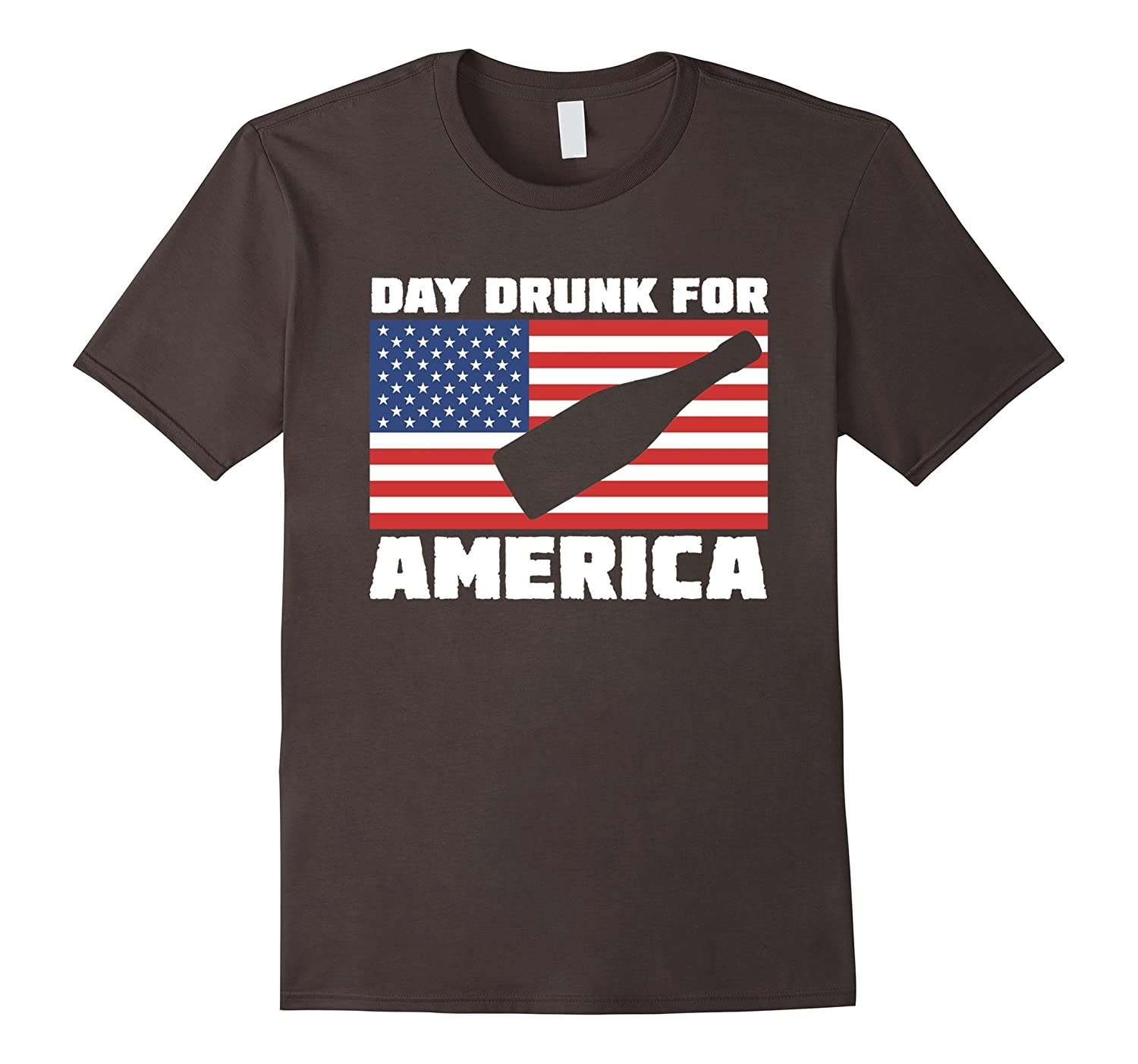 Day Drunk For America T-Shirt July 4th Gift