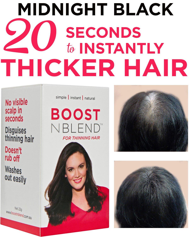 Amazon.com: BOOSTnBLEND Black Hair Loss Scalp Concealer for women ...