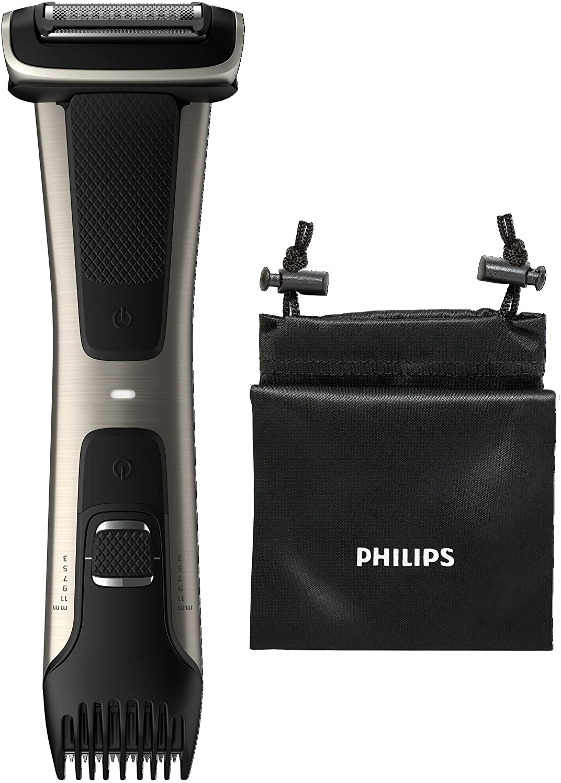 Philips 7000 series BG7025/13 afeitadora corporal Negro - Afeitadoras corporales (AC/Batería, Ión de litio, 80 min, 1 h): Amazon.es: Salud y cuidado personal