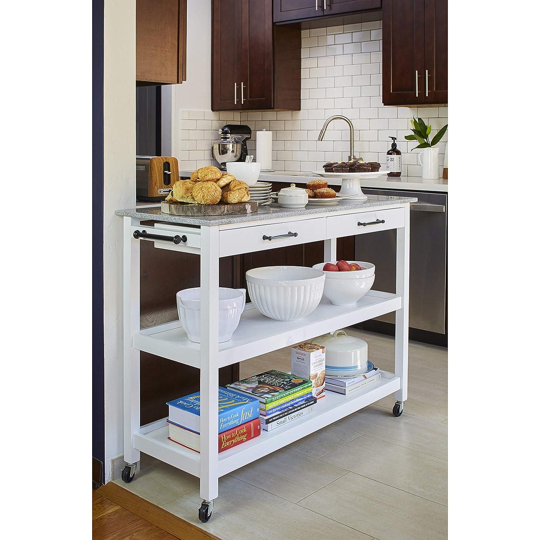 Amazon.com - Angelo:HOME Arlington Shelf Two Drawer Mobile ...