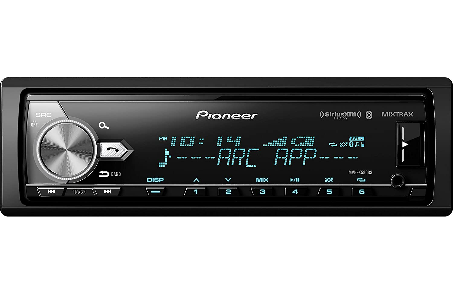 Pioneer Mvh X580bs Digital Media Receiver With Enhanced 1761 Radio Wiring Harness For Toyota 87up Power 4 Speaker Shopstak Audio Functions Cell Phones Accessories
