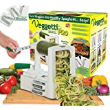 Veggetti Pro Table-Top Spiralizer, Quickly Spiral Slice Vegetables into Healthy Veggie Pasta