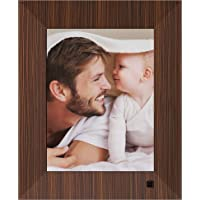 NIX Lux Digital Photo Frame 8 inch X08F, Wood. Electronic Photo Frame USB SD/SDHC. Clock and Calendar Function. Digital Picture Frame with Motion Sensor. Remote Control and 8GB USB Stick Included