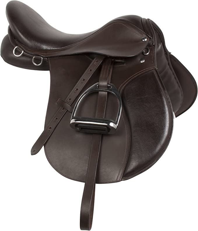 New Branded Leather English Dressage Saddle All Size