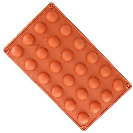YooHome - Molde para chocolate de silicona alimentaria, flexible, antiadherente, 24 huecos de