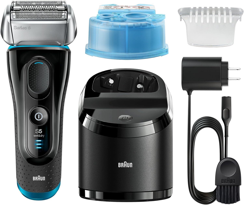 Braun Series 5 – 5090 cc eléctrica Foil Shaver para los hombres con limpia y estación de carga, afeitadora eléctrica cuchillas de afeitar, máquinas de afeitar ...