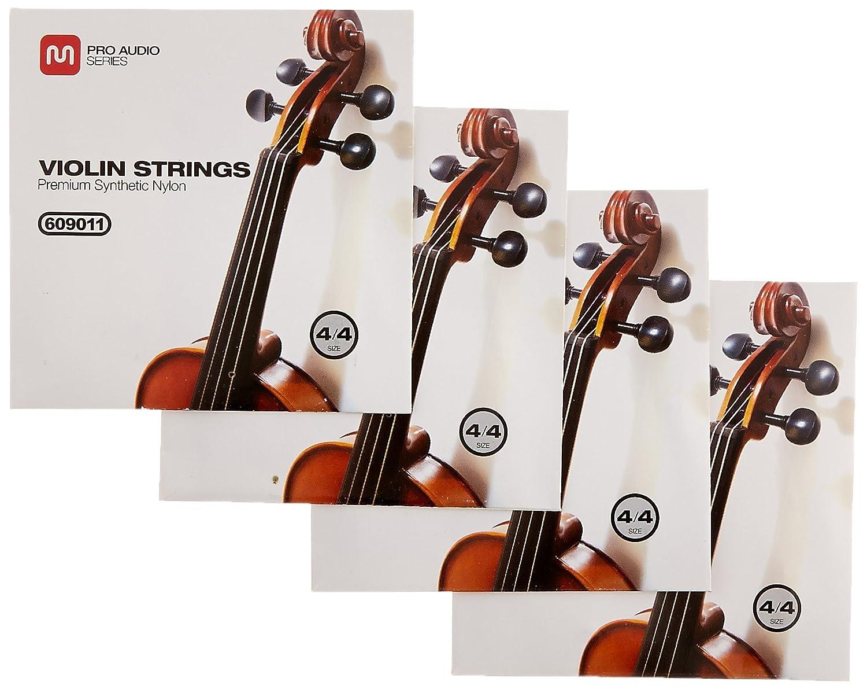 Monoprice 609011 Violin Strings-Premium Synthetic