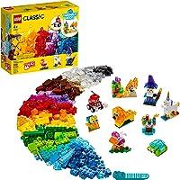 11013 LEGO® Classic Blocos Transparentes Criativos; Kit de Construção para Crianças (500 peças)