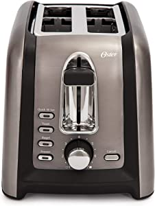 Oster TSSTTRGM2L Black Stainless Toaster (Renewed)