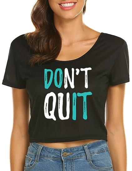 094fadb95928 Amazon.com  MinGe Women s Cute Lip Gloss Graphic T Shirt Crop Tops ...