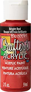 product image for DecoArt Crafter's Acrylic Paint, 2-Ounce, Bright Red
