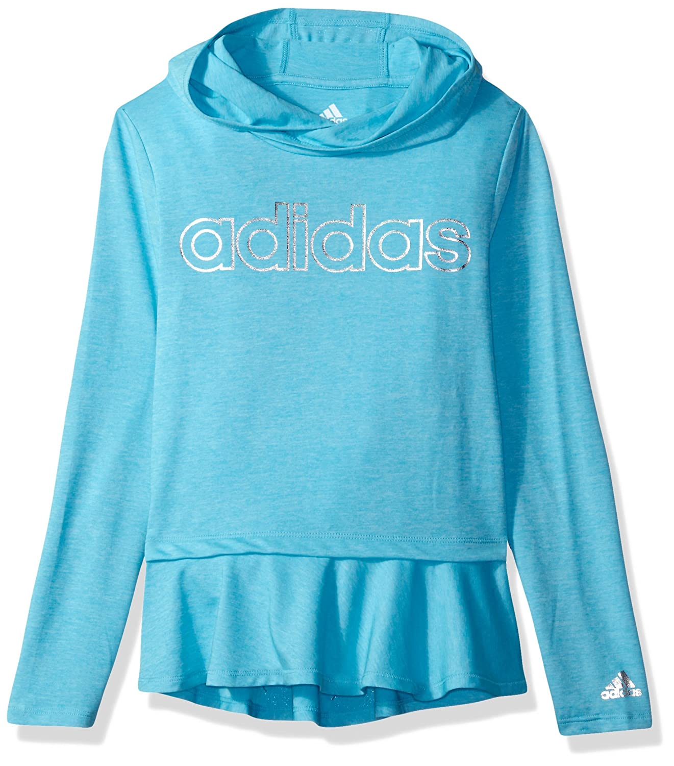 adidas Girl's on The Go Melange Hoodie T-Shirt AA4461