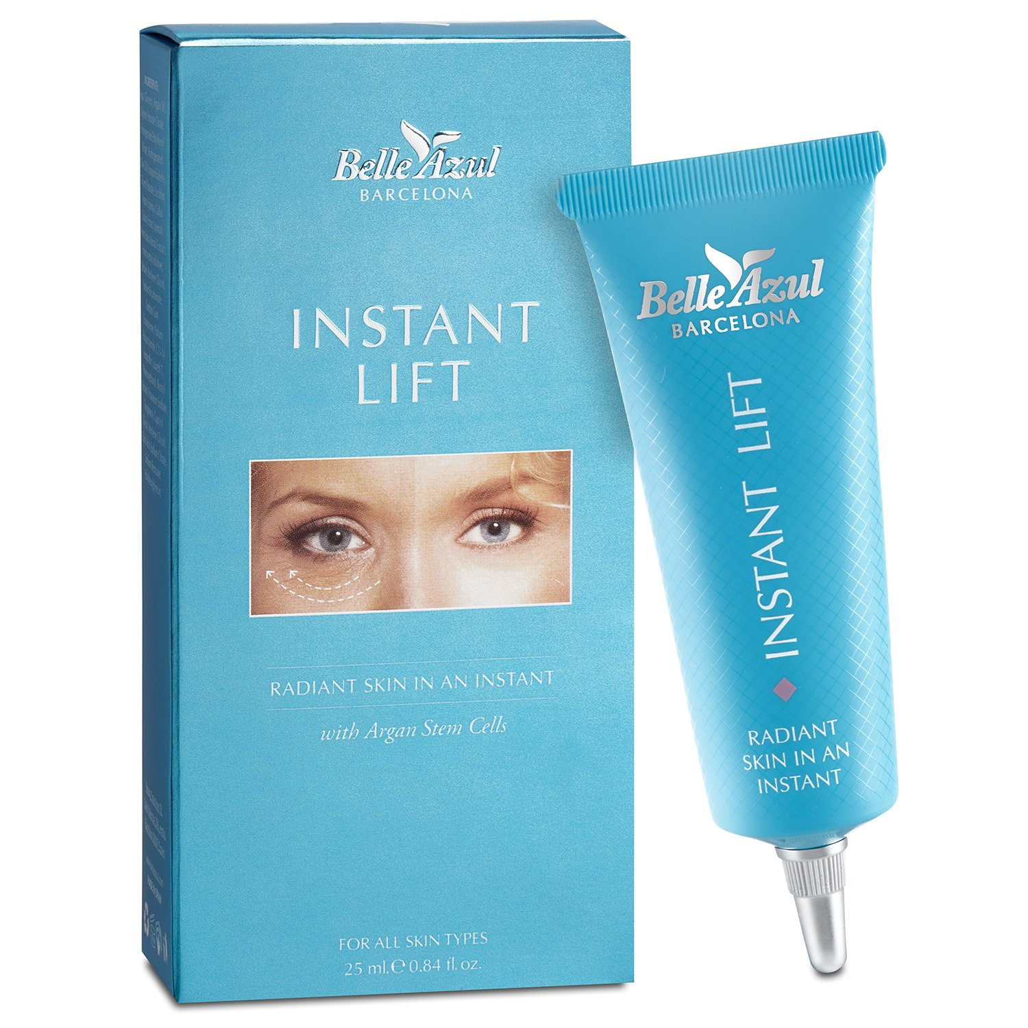Belle Azul Instant Lift - Anti Wrinkle and Firming Eye Cream Rich in Vitamin E, Fatty Acids and Antioxidants. Paraben and Phthalates Free 25 ml. / 0.84 fl.oz Simon & Tom