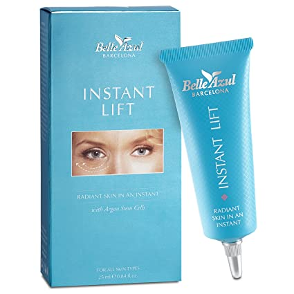 Belle Azul - Instant Lifting - Elimina las Ojeras y Bolsas de los Ojos, Reduce las líneas de expresión y arrugas faciales, con Aceite de Argán puro ...