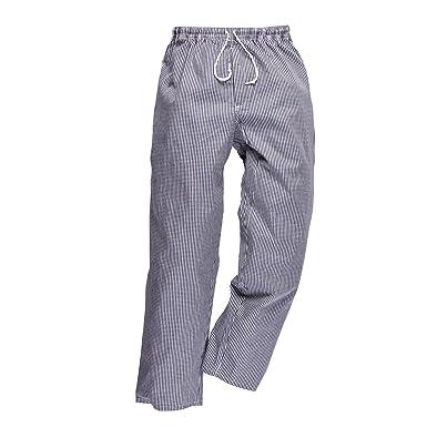Pantalon de cuisine coton pied de poule: Amazon.fr: Vêtements et accessoires