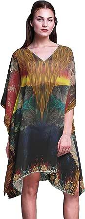 Phagun Ladies Kaftan Holiday Loungewear Midi Dress Beach Coverup