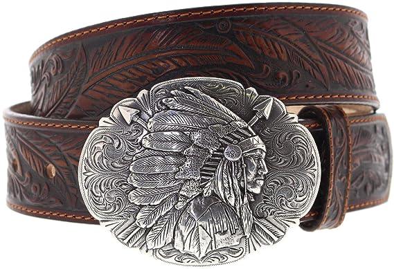 a21245710cc5a5 FB Fashion Boots Justin Belts Unisex Gürtel C13704 Westerngürtel Braun 85  Zentimeter