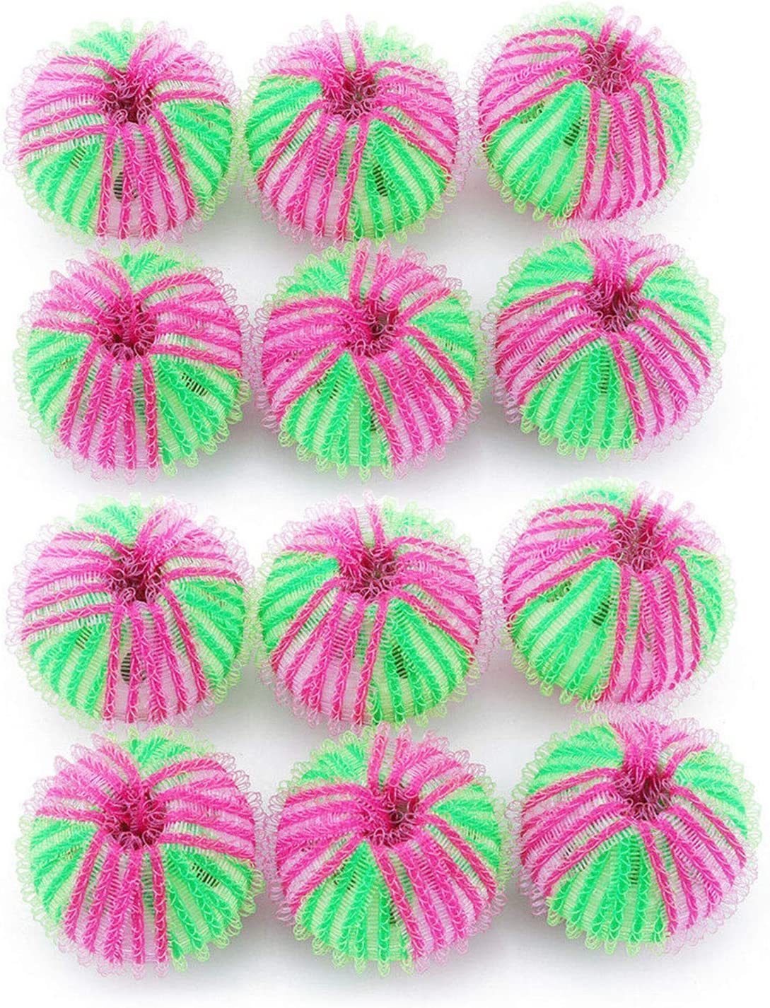 Washing Balls 12Pcs Lint Remover Washing Balls Reusable Floating Pet Hair Remover Ball Hair Lint Grabbing Wash Ball for Removing Pet Hair//Clothes//Bedding in The Washing Machine