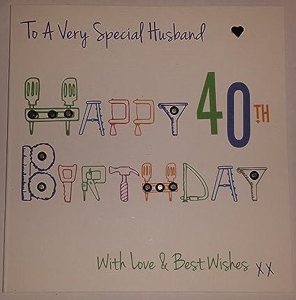 Happy Birthday Card Husband 40th