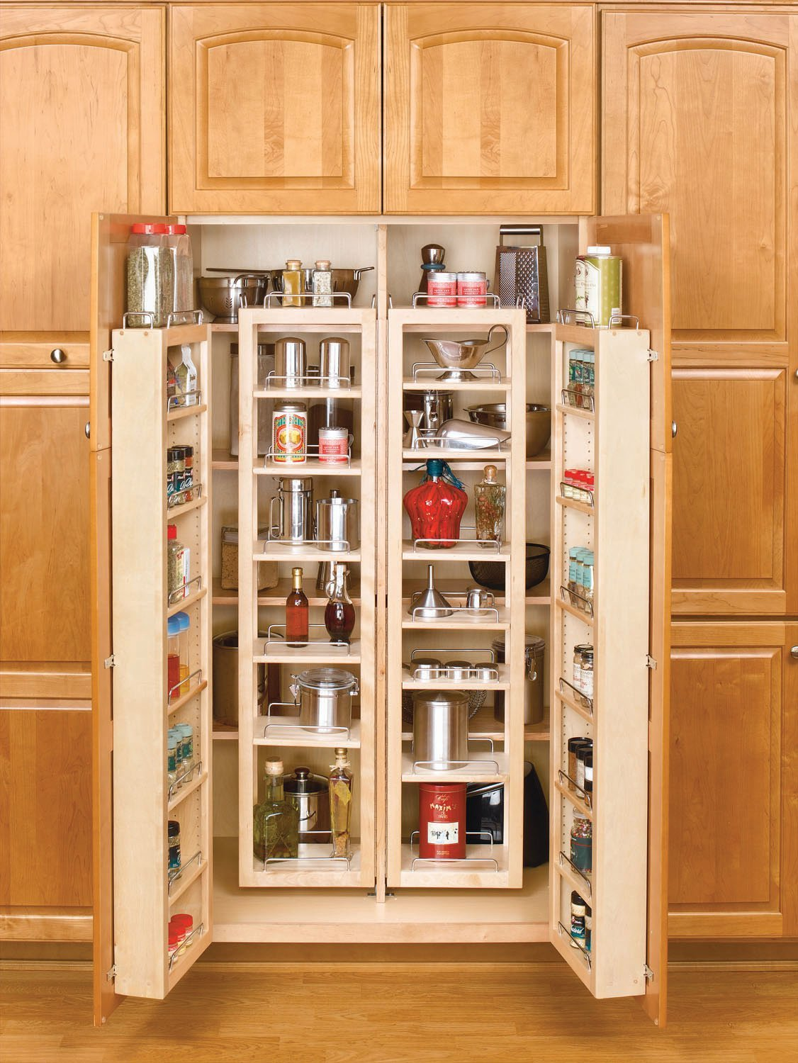 Rev-A-Shelf 51 Door Unit Only Pantry Organizer, Natural 4WDP18-51