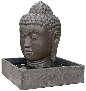 Wasserlauf Steinguss Buddha Kopf Angkor Watt Brunnen Fur Haus Und Garten Zimmer