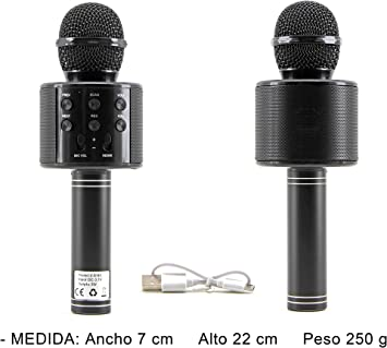 M2 TEC - Micrófono Inalámbrico Karaoke Bluetooth Portátil Altavoz ...