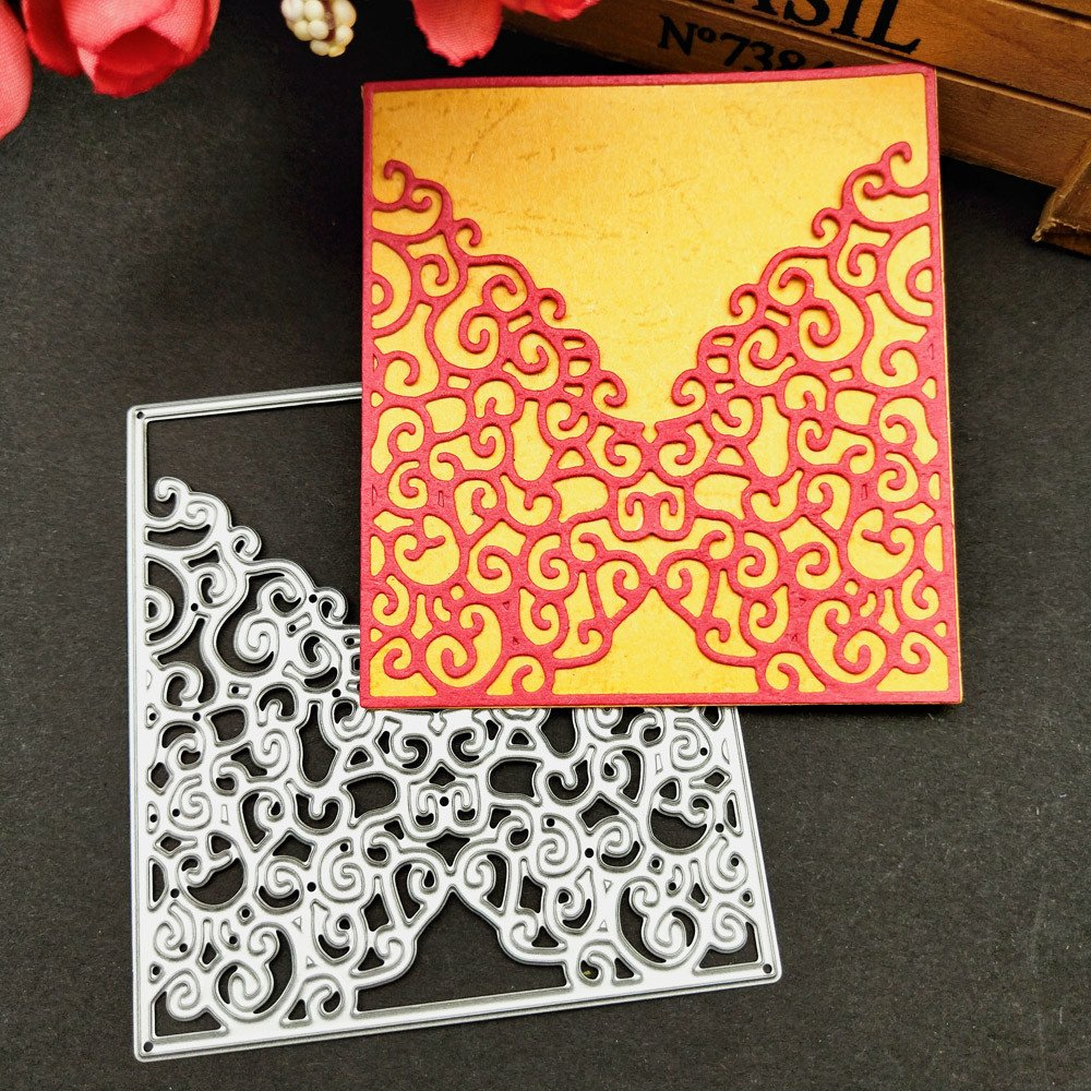 A medium Acciaio al carbonio Leedy lovely modello goffratura stencil per DIY carta scrapbook album artigianale decorazione Novit/à metal cutting Dies
