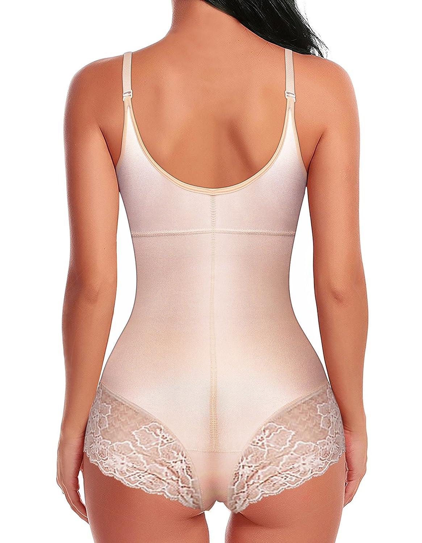 bcfd1d52aa SHAPERX Women Seamless Firm Control Shapewear Faja Open Bust Bodysuit Body  Shaper