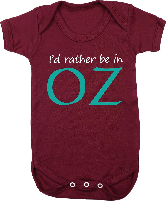 Hippowarehouse I'd Rather be in oz Baby Vest Bodysuit (Short Sleeve) Boys Girls