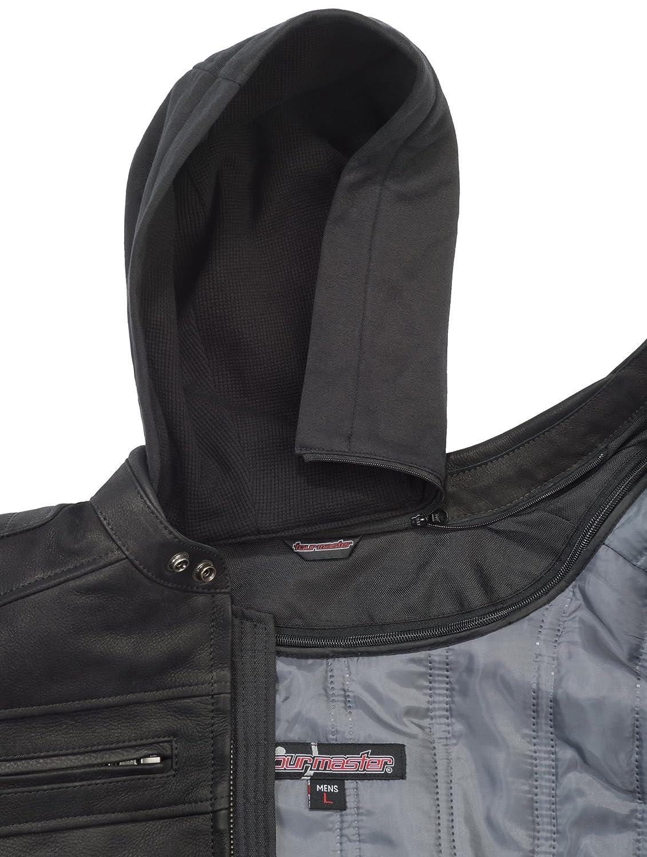 Black, Large TourMaster Mens Blacktop Leather Motorcycle Jacket