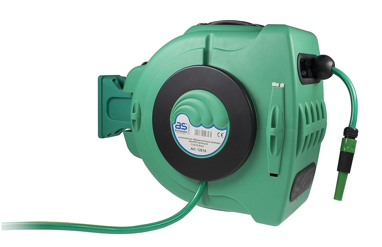 as - Schwabe Automatik-Wasserschlauch-Trommel für Garten Bild