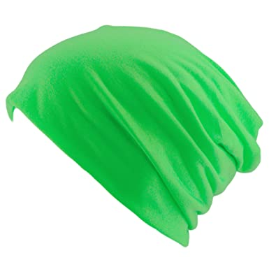 cfa616f1212 Oblique-Unique Neon Slouch XXL Long Beanie Hat Slouch Trend for Men and  Women - Green - One Size  Amazon.co.uk  Clothing