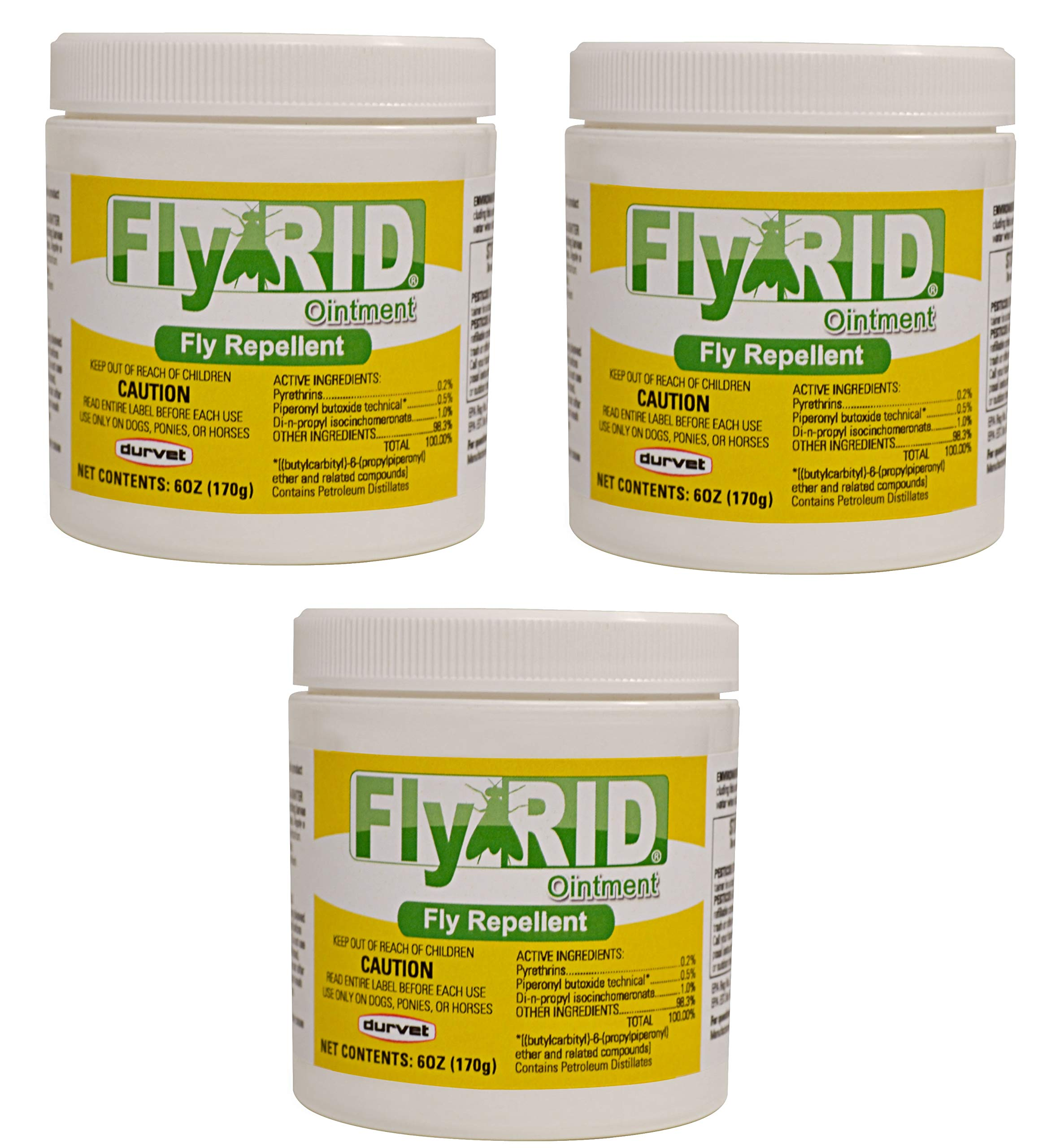 Durvet Fly Repellent Ointment Fly Rid Clear 6oz for Dogs and Horses (3 Packs)