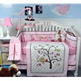 SOHO Cherry Blossom Crib Nursery Bedding Set Including Diaper Bag PLUS FREE BABY PINK CARRIER (for limited time offer only!)