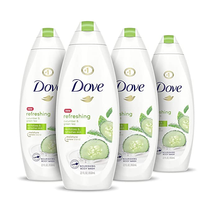 Amazon Com Dove Sulfate Free Body Wash Cucumber And Green Tea 22 Oz Pack Of 4 Beauty