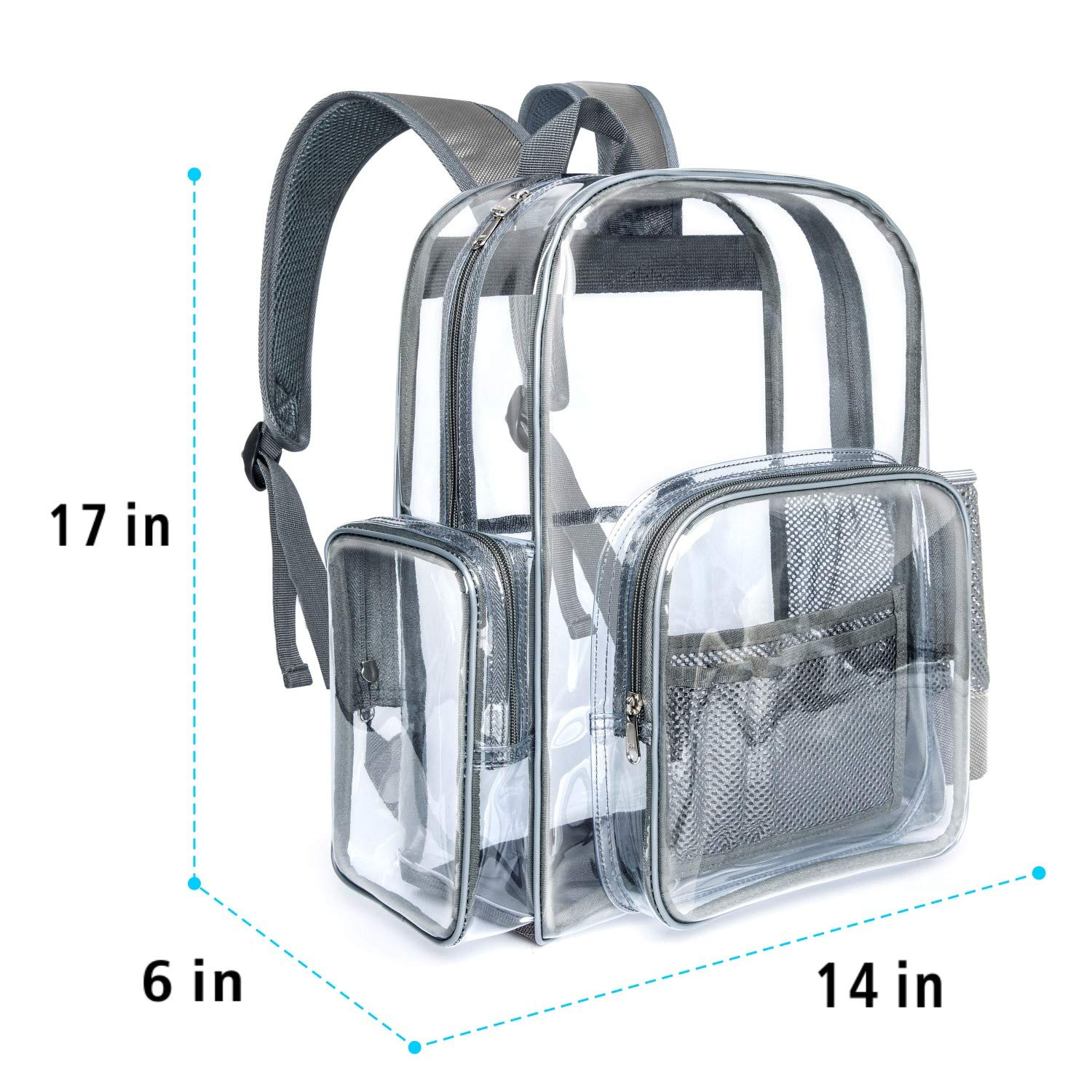 Clear Backpack Packasso Heavy Duty Clear Bag for Adults Stadium Boys Girls