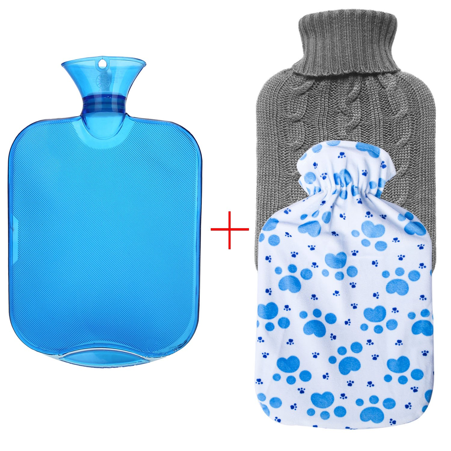 Amazon.com: Carex, Hot Water Bottle with Fleece Cover, Threaded ...