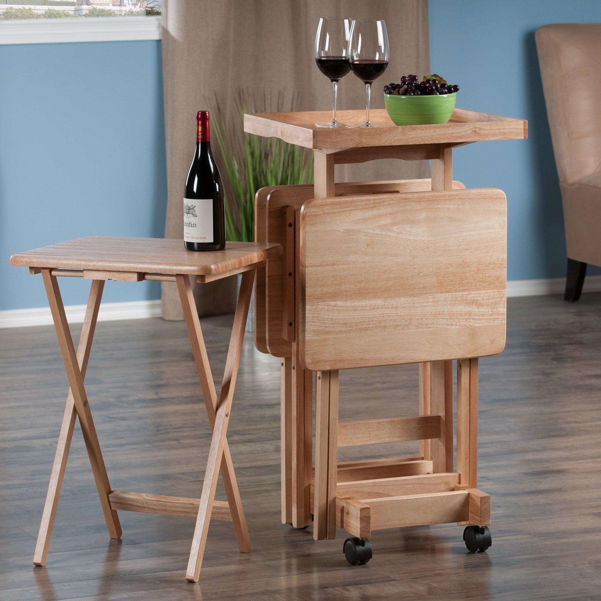 Winsome Wood 42820 Isabelle 6 Piece Snack Table Set, Natural by Winsome Wood (Image #10)
