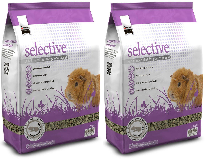 SUPREME 2 x 10kg Science Selective Dandelion Guinea Pig Food Multibuy