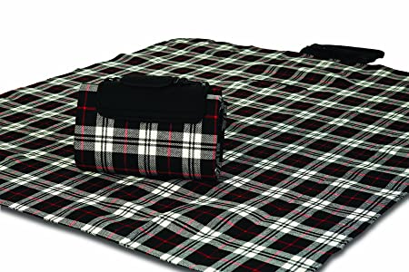 Mega Mat 100 Waterproof Backing All Season Picnic Blanket, Beach Mat and More Opens to 68 X 82 , Seats 4-6 Persons Plus Gear