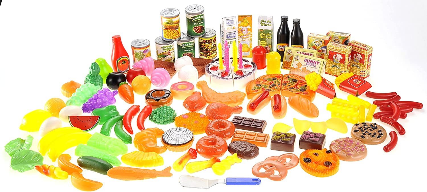 PowerTRC 130 Piece Deluxe Assorted Play Food