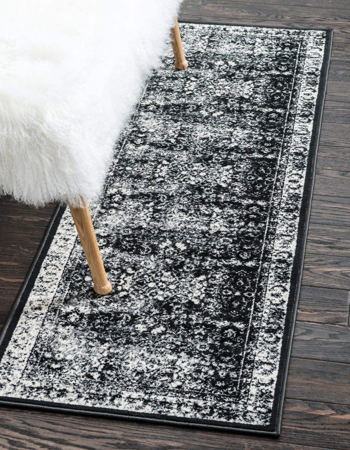 Unique Loom Imperial Collection Modern Traditional Vintage Distressed Light Gray Runner Rug 3 0 x 9 10