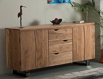 Gaya Sideboard 160x43 Cm Wohnzimmerschrank Konsole Anrichte Massivholz Schrank Akazienholz
