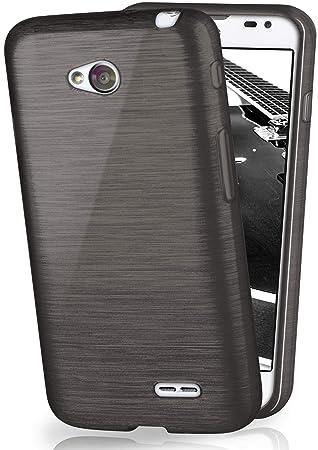 OneFlow Funda Protectora Funda LG L65 / L70 Carcasa Silicona TPU 1,5mm | Accesorios Cubierta protección móvil | Funda móvil paragolpes Bolso Cepillado ...