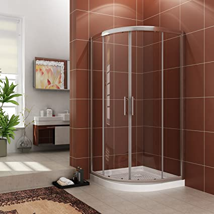 Sunny Shower Neo-Round Corner Sliding Shower Doors 38\
