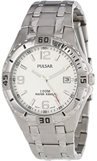 Pulsar Mens PXH705 Sport Stainless Steel Silver Dial Watch