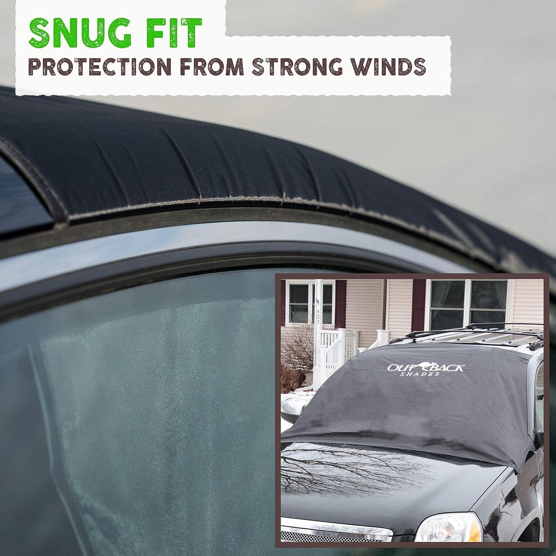 Amazon.es: FUNDA PROTECTOR para PARABRISAS - Funda tela auto para coche útil todo el año. Protege la luna delantera de hielo y nieve en invierno, ...