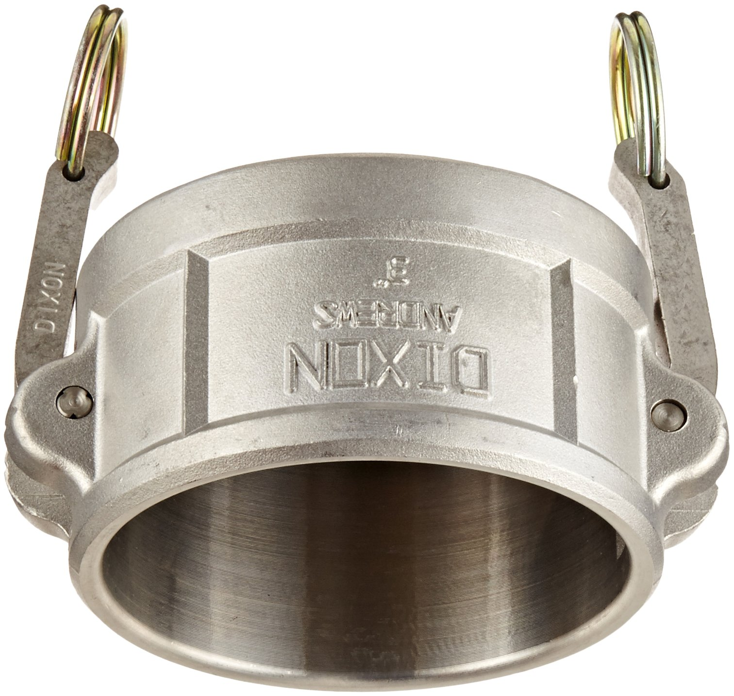 Dixon 300-DC-SS Stainless Steel 316 Type DC Cam and Groove Hose Fitting, Dust Cap, 3''