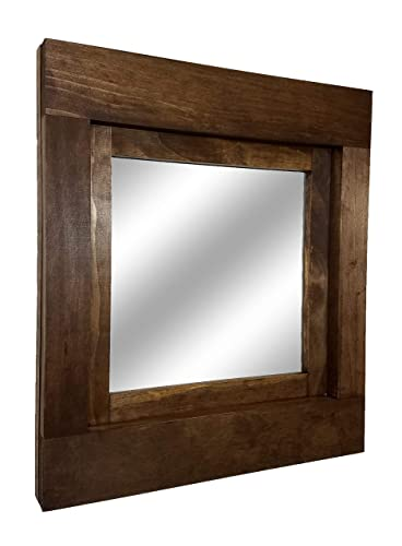 Amazon.com: Farmhouse Accent Framed Mirror Available in Two Sizes ...