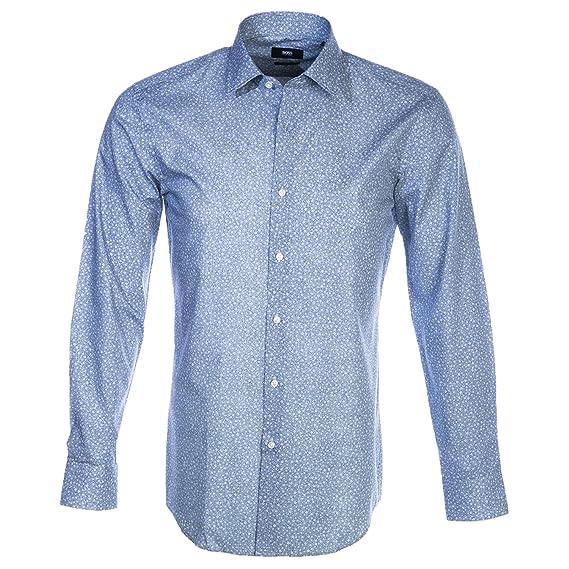 76da727a4 BOSS Hugo Black Mens Jenno Micro Floral Print Shirt: Amazon.co.uk: Clothing